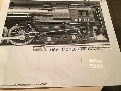 LIONEL LINES 2-6-4 LOCO 2025 WHITE LETTERING CLEAR WATER 2 DECAL P//SET LOOK!