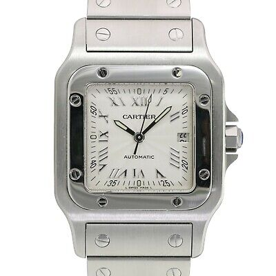 Unisex Cartier Santos Galbée 2319 29mm x 41mm Stainless Steel Watch Silver Dial