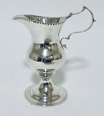 Good Quality Victorian Antique Solid Sterling Silver Milk Cream Jug 1894