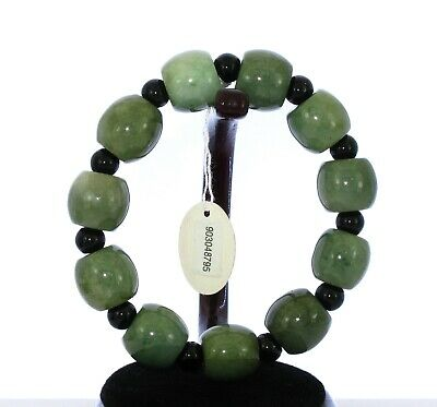 "07"" China Grade A Certified Nature Hisui Jadeite Jade Oil Green Bangle 8795"