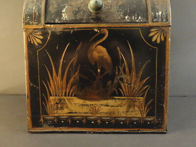 All Original Victorian General Store Bin Tin Box 1880