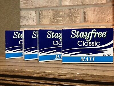 STAYFREE Classic 4 Maxi Pads Sanitary Napkin Vending Travel Vintage Heavy Flow