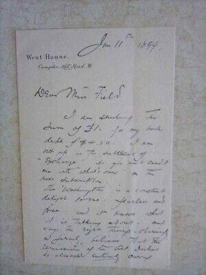 George Henry Boughton Signed Hand Written Letter - Notable Painter