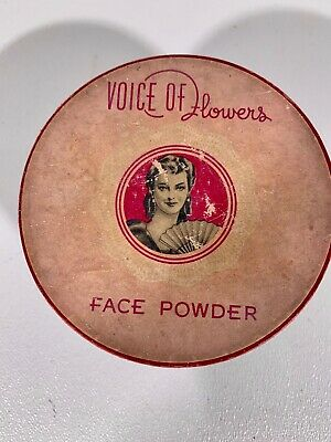"""Antique """"Voice of Flowers"""" Face Powder Box """"Natural"""" Blair of Virginia"""