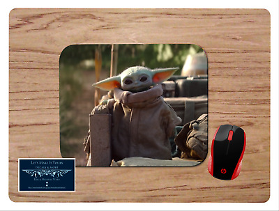 Baby Yoda #5 Mousepad Mouse Pad Home Office Gift Star Wars The Mandalorian