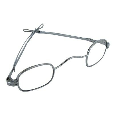 Antique Silver Adjusting Arms Sides Spectacles Eye Glasses Theatre Costume Prop