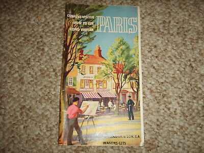 Comment Visitor How to See Paris 120-55 Ca 1955 Travel Brochure Pamphlet Booklet