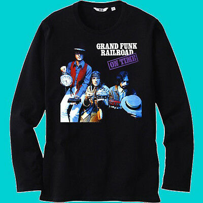 New GRAND FUNK LIVE Album Cover Logo Mens Black Long Sleeve T-Shirt Size S-3XL