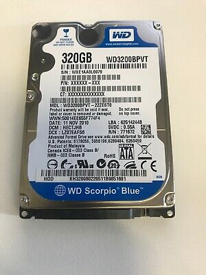 Western Digital Scorpio Blue 320GB Internal Hard Drive WD3200BPVT Laptop 2.5 HDD