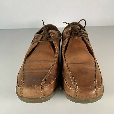 Marks & Spencer Men's Brown Leather Casual Shoes Lace Up Size UK 10