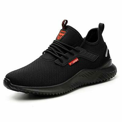 UK Men's Lightweight Safety Shoes Women Steel Toe Trainers Work Shoes Sports
