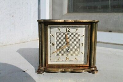 Antique Old French Made  Bronze Art Deco  Alarm Clock Jaz de Luxe