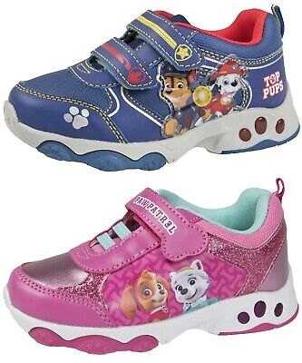 Paw Patrol Trainers Lightweight Easy Touch Fastening Sneakers Girls Pumps Shoes