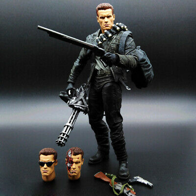 "NECA Terminator 2 Judgment Day T-800 Ultimate Deluxe Arnold 7"" Action Figure"