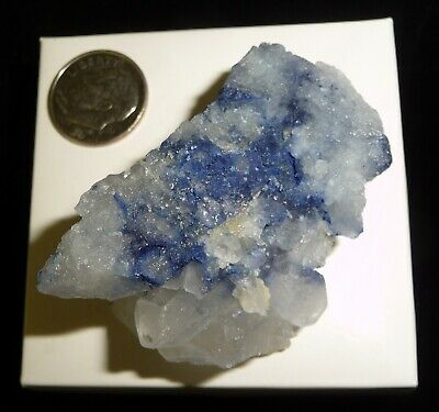 Dumortierite in Quartz Crystal Natural Specimen Brazil 46 grams