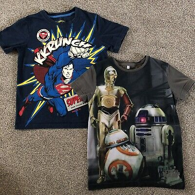 Superman And Star Wars T-shirts 7-8 Years