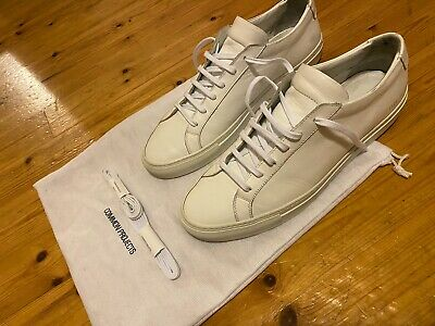 Common Projects White Achilles Leather Low-Top Sneakers 11/45