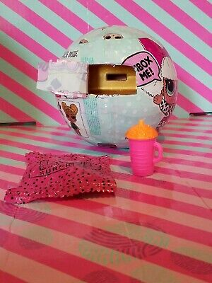 Lol Surprise GLITTER QUEEN Rare Series 1 Factory Sealed Gold Ball ZIPPERS INTACT