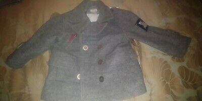 Baby Boys Grey Pea Coat/Jacket From Mila Blue At Vertbaudet - Age 2 Years