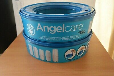 4x Angelcare Nappy Refill Cassettes Disposal System Wrappers Bags Sacks