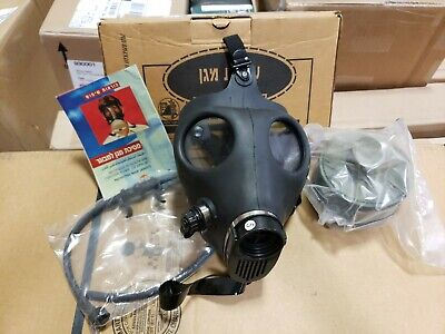 Israeli Gas Mask w/ Unissued 40mm Filter and Drinking Tube