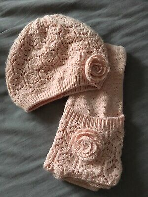 Monsoon Hat & Scarf Set Age 6+