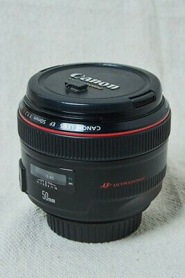Canon EF 50mm f/1.2 L USM Lens, Used, good condition