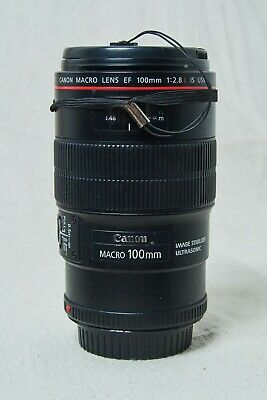 Canon EF 100mm f/2.8L IS USM Macro Camera Lens, Used, good condition