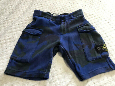 Stone Island Junior Boys Blue And Black Shorts Age 6 Years Nice