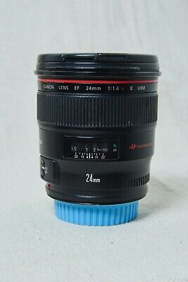 Canon EF 24mm f/1.4 II EF L USM Lens, Glass good, Dinged filter threads