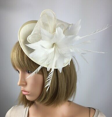 Ivory Cream Fascinator Hat Wedding Occasion Hatinator Mother Of The Bride Races