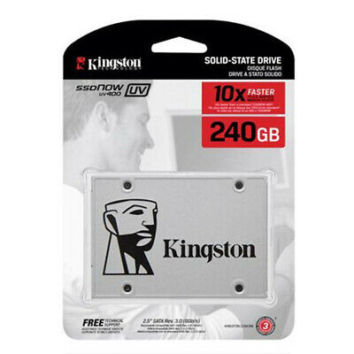 "SSD 240GB UV400 New Per KINGSTON DIGITAL NOW SATA 3 2.5"" SSD KIT SUV400S3B7A AS"