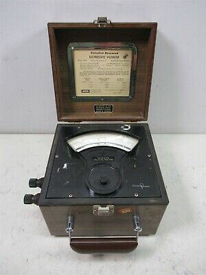 Singer Sensitive Research Electrostatic Kilo Voltmeter ESD Vintage Laboratory