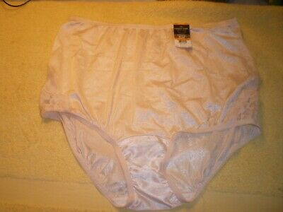 NWT Vanity Fair Perfectly Yours Lace Nouveau Brief Nude #13001  Size 7/L FR/SHP
