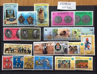 British Commonwealth Jamaica 21 Stamps UM/Mint Many Sets (Lot 402)