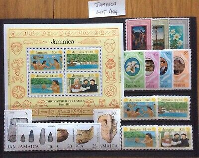 British Commonwealth Jamaica 16 Stamps/Miniature Sheets UM/Mint Sets (Lot 404)