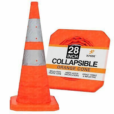 """28"""" Collapsible Traffic Cones Pop Up Reflective Parking Emergency Safety Cone"""