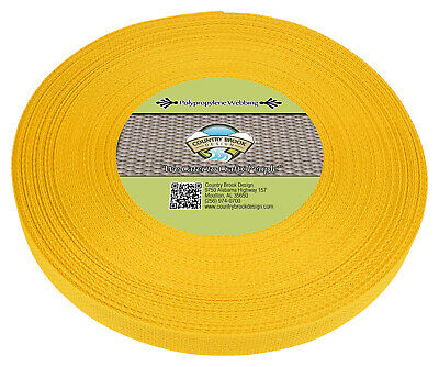 Country Brook Design® 1 Inch Yellow Polypro Webbing, 50 Yards