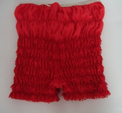 Vintage Sam's Red Lace Petti Pants Bloomers Ruffles Rockabilly Panties Sz Small