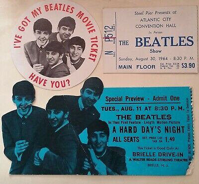 Beatles movie and concert tix - 1964 - $1 auction