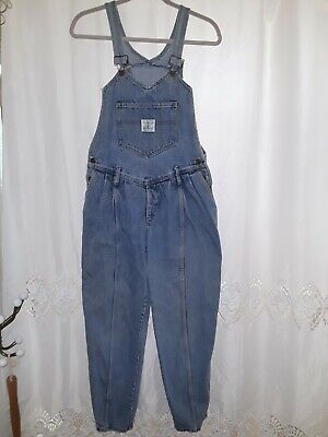 Vtg 80s Guess by Georges Marciano Womens Denim Bib Overalls Sz 3