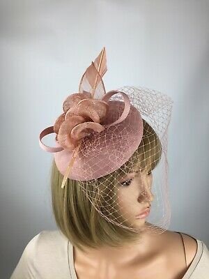 Dusky Blush Pink Fascinator Wedding Occasion Hatinator Mother Of The Bride Races