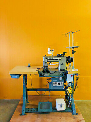 Singer 300 with Synchro Q31 Plus Two Needle Industrial Sewing  Machine Tested!