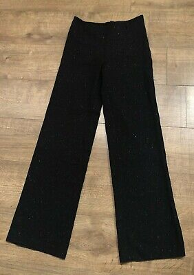Ladies Naohiro Matsuo Ladies Black Trousers Sparkly Loose Fit Women Womens Small