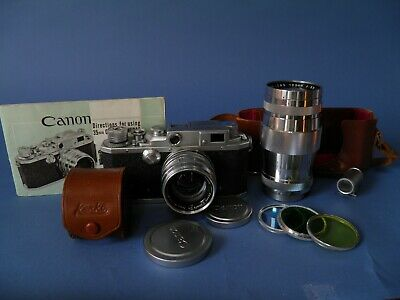 Canon Rangefinder Camera With 2 Lenses
