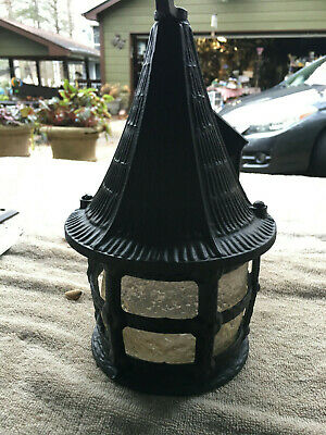 Antique Arts Crafts  Gothic Metal Wall Sconce Porch Light Fixture 121019 F