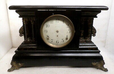 Large Complete American Mantle Clock Case & Dial--Install Your Own Movement