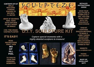 Sculpture Kit DIY Moulding of Face, Hands
