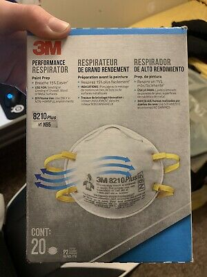 3M 8210 Plus N95 Particulate Respirator Mask (20/Box) FAST FREE SHIPPING!