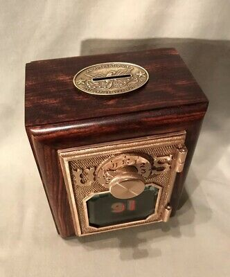 Antique Vintage Post Office Door Mail Box Postal Bank-1908 Federal Equipment #91
